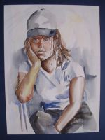 Portret van kunstenaar Jos Stork