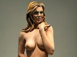 Topless vrouw